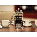 Service Ideas French Press Coffee Maker in Black/Gray, Size 9.75 H x 6.0 W x 4.75 D in | Wayfair T877B