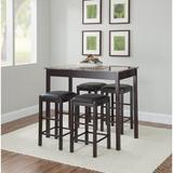 Winston Porter Loria 5 - Piece Counter Height Dining SetWood/Upholstered Chairs in Brown, Size 36.25 H x 22.05 W x 42.13 D in | Wayfair