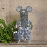 Gracie Oaks Boy Mouse Hanging Figurine Ornament Fabric in Gray, Size 4.0 H x 4.0 W x 2.5 D in | Wayfair 719708555CA04671A97126CB0AB3322B