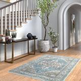 World Menagerie Greenacres Southwestern Area Rug Polyester/Polypropylene in Blue/Brown, Size 72.0 H x 48.0 W x 0.314 D in | Wayfair
