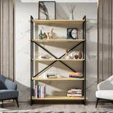 Greyleigh™ Abordale Steel Etagere Bookcase in Brown, Size 70.9 H x 47.2 W x 13.4 D in   Wayfair CCCF595904A545F595B486619CEB8874