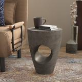 AllModern Hodge Solid Wood Abstract End Table Wood in Gray, Size 17.7 H x 14.1 W x 14.1 D in   Wayfair TADN3619 28371153