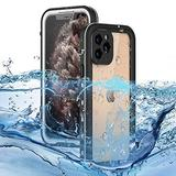 """WintMing Compatible with iPhone 12 Pro 6.1"""" Waterproof Case Built-in Screen Protector Shockproof Clear Phone Case Sealed Full Body Protective Cover for iPhone 12 Pro 5G (White, 12 Pro(6.1""""))"""