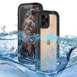 """WintMing Compatible with iPhone 12 Pro 6.1"""" Waterproof Case Built-in Screen Protector Shockproof Clear Phone Case Sealed Full Body Protective Cover for iPhone 12 Pro 5G (Black, 12 Pro(6.1""""))"""