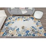 Rugs America VA35D Royal Blossom Golden Ivory Transitional Floral Area Rug 9' x 12'