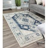 """Rugs America Gallagher Collection GL40C Deep Blue Transitional Vintage Area Rug 2'6"""" x 4'"""