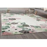 Rugs America VA35B Royal Blossom Pink Ivory Transitional Floral Area Rug 9' x 12'