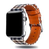 Nayu Replacement Bands Brown - Brown Plaid Leather Band Replacement for Apple Watch