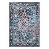 nuLOOM Indoor Rugs Blue - Pink Persian Distressed Raylene Rug