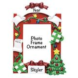 The Holiday Aisle® Red Picture Frame Hanging Figurine Ornament in Green/Red, Size 4.75 H x 3.5 W x 0.5 D in | Wayfair
