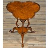 Astoria Grand Liston Solid Wood Pedestal End Table Wood in Brown/Red, Size 28.0 H x 27.0 W x 24.0 D in   Wayfair 9AED53E334854F038D177D42633D8A7D