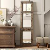 Birch Lane™ Leaner Accent MirrorWood in Brown/Gray/White, Size 78.0 H x 22.0 W x 2.0 D in | Wayfair C758FCE9978B4A3CAA8597DAB0782620