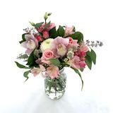 "Rachel Cho Floral Design - Pink Baby - Fresh Cut Flower Bouquet - Fresh Flowers - Floral Arrangement - Flower Bouquet - Approx. 4 lbs. 15"" x 9"" - with Vase"