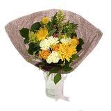 "Rachel Cho Floral Design - Sunnyside - Fresh Cut Flower Bouquet - Fast Delivery - Fresh Flowers - Floral Arrangement - Flower Bouquet - Approx. 4 lbs. 15"" x 9"" - with Vase"
