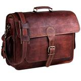 Leather Laptop Bag For Men 18 Inches | Best In Class Leather Briefcase For Men Or Leather Messenger Bag For Men With Padding For This Leather Laptop Case A Perfect Vintage Leather Bag for Men By Hulsh