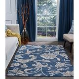 Garland Navy Machine Washable Large 8x10 Area Rug 8x10 for Living Room - 8x10 Area Rugs 8x10 Carpets Bedrooms Rugs for Living Room 8x10 Carpet Alfombras para Salas Grandes Modernas
