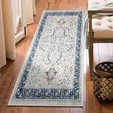 HiiARug Bohemian Chic Vintage Distressed Runner 2'x6' Non Slip Runner Rug Washable Modern Area Rug for Hallway Entryway Living Room Bed Room (2'x6' Cream/Blue)