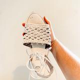 Urban Outfitters Shoes | Uo W H I T E B O H O T I E S A N D A L S | Color: White | Size: 7