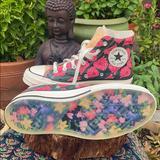 Converse Shoes | New Floral Converse Multi Color High Tops Sz 7.5 | Color: Blue/Green | Size: 7.5