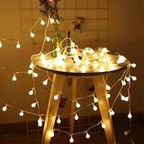 String Lights,RaThun 49Ft 100 LEDs 8 Modes Globe String Lights,Fairy String Lights Plug in-UL Listd for Indoor Outdoor Party Wedding Christmas Tree Garden,Commercial Decor