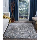Garland Gray Machine Washable Large 8x10 Area Rug 8x10 for Living Room - 8x10 Area Rugs 8x10 Carpets Bedrooms Rugs for Living Room 8x10 Carpet Alfombras para Salas Grandes Modernas
