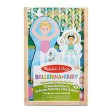 Melissa and Doug Ballerina And Fairy Magnetic Dress-Up Double-Sided Wooden Doll And Swan Pretend Play Set, Multicolor