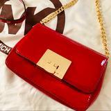 Michael Kors Bags | Michael Kors Crossbody Tina Vs Sloan Purse Nwot | Color: Gold/Red | Size: Os
