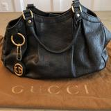 Gucci Bags | Gucci Gg Monogram Sukey | Color: Black/Gold | Size: 13.5width X 11height X Depth 4