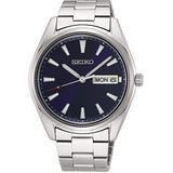 Seiko Quartz Blue Dial Stainless Steel Men's Watch SUR341P1