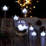 AGPtEK LED Battery Operated Smokeless Unscented Flameless Candle Set Plastic in White, Size 6.7 H x 6.3 W x 6.5 D in | Wayfair DE14S