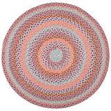 August Grove® Alsatia Handmade Braided Jute Pink/Area Rug Jute & Sisal in Blue, Size 84.0 W x 0.16 D in   Wayfair 78FDE3D45EA44AD588A3D37A23773640