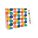 Night Owl Paper Goods Thank You Cards - 'Thanks' Jelly Stones Blank Greeting Card - Set of Six