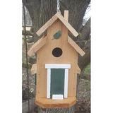 Bird Houses by Mark Cedar Cottage Bird House, Green
