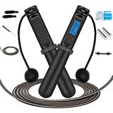 Jump Rope,OYEL Digital Counting Speed Jumping Rope Counter with Calorie Counter for Training Fitness Adjustable Weighted Jump Rope Workout for Adults Men Women,Children Kids Cordless Skipping Rope