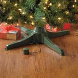 Musical Rotating Christmas Tree Stand by BrylaneHome in Green