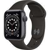 Apple Watch Series 6 (GPS, 40mm, Space Gray Aluminum, Black Sport Band) MG133LL/A