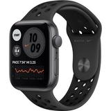 Apple Watch Nike SE (GPS, 44mm, Space Gray Aluminum, Anthracite/Black Nike Sport MYYK2LL/A