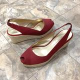 Jessica Simpson Shoes | Jessica Simpson Red Wedges | Color: Red | Size: 6