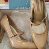 Nine West Shoes | Nine West Pink Patent Leather Mary Janes | Color: Cream/Pink | Size: 8.5