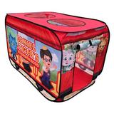 M&M Sales Enterprise Daniel Tiger's Neighborhood Trolley Pop-Up Play Tent w/ Carrying Bag Fabric in Red, Size 28.0 H x 28.0 W x 45.0 D in | Wayfair
