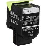 Lexmark 701K Black Return Program Toner Cartridge for Select Color Laser Printers 70C10K0