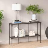 Dafna Aged Steel Console Table - Hudson & Canal AT0474