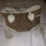 Gucci Bags   Gucci Beige Canvas And Leather Bag   Color: Tan/White   Size: Os