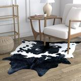 Union Rustic Richburg/White Area Rug Polyester in Black, Size 96.0 H x 76.0 W x 0.079 D in | Wayfair 204D2F4FD4A34F6C9E35C377A53256CD