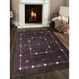 Union Rustic Manns Oriental Hand-Knotted Wool Area Rug Wool in Brown, Size 132.0 H x 96.0 W x 0.75 D in | Wayfair 5BB049EF462B4E989433839FA1D68770