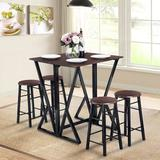 17 Stories Fredric 5 - Piece Counter Height Dining SetWood/Metal in Black/Brown/Green | Wayfair 0177D1CEB73644AC9B4BC6B4D8EFEFA6