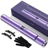BESTOPE Hair Straightener and Curler 2 in 1 Flat Iron for Hair with Detachable Power Cord Tourmaline Ceramic Hair Straightener Hair Styling Tools Adjustable Temperature 265℉-450℉
