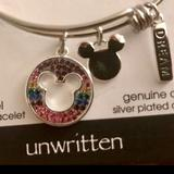 Disney Jewelry   Disney Mickey Mouse Adjustable Crystal Bracelet   Color: Silver   Size: Fits Up To An 8.25 Wrist Comfortably