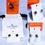 Kate Spade Jewelry | Kate Spade Gumdrop Black Diamond Earrings | Color: Black/Gold | Size: Os