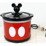 Disney Kitchen | Disney Mickey Mouse Red Slow Cooker Mini .65qt Red | Color: Black/Red | Size: Os